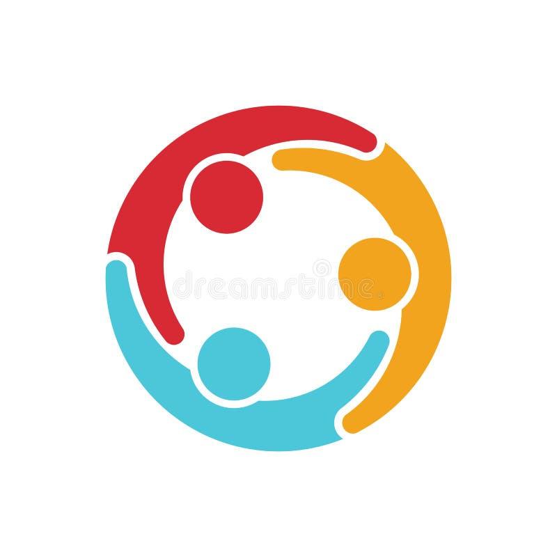 Het embleem van de mensenfamilie vector illustratie