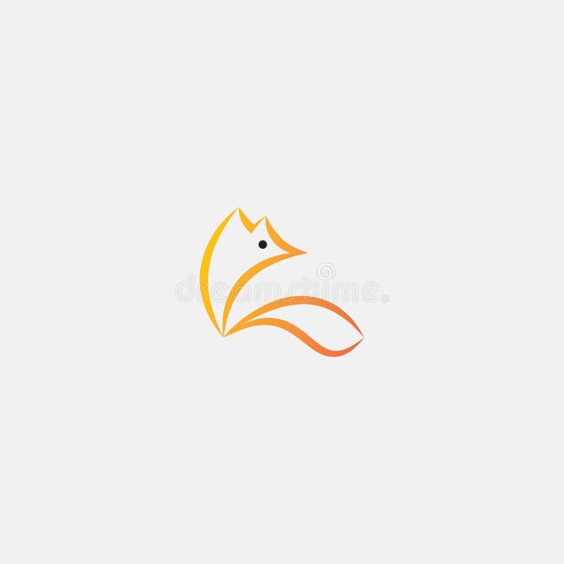 Het embleem van de Minimalismvos stock afbeelding