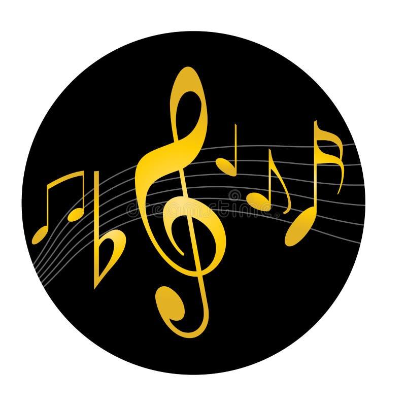 Het embleem van de muziek vector illustratie