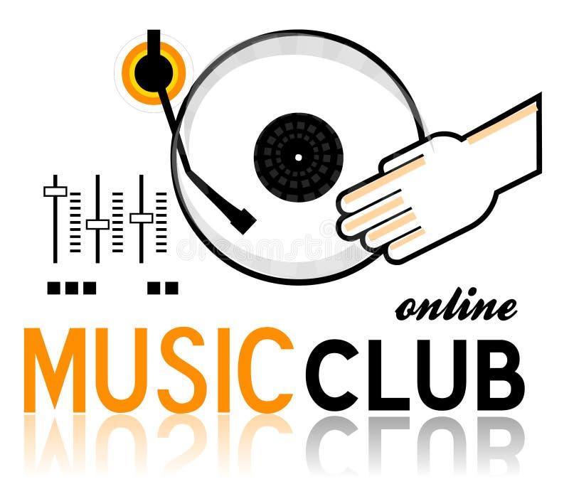 Het Embleem van de muziekclub stock afbeeldingen