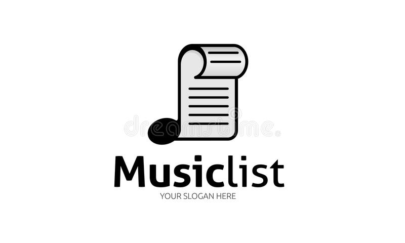 Het Embleem van de muzieklijst vector illustratie