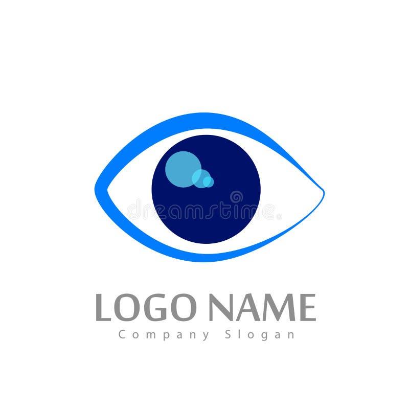 Het embleem van de oogkliniek vector illustratie
