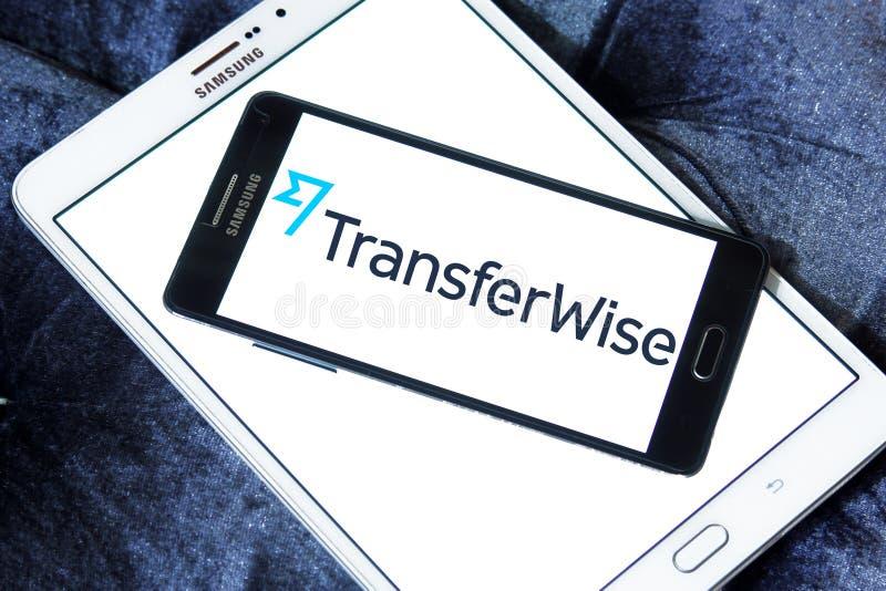 Het embleem van de de overdrachtdienst van het TransferWisegeld stock foto