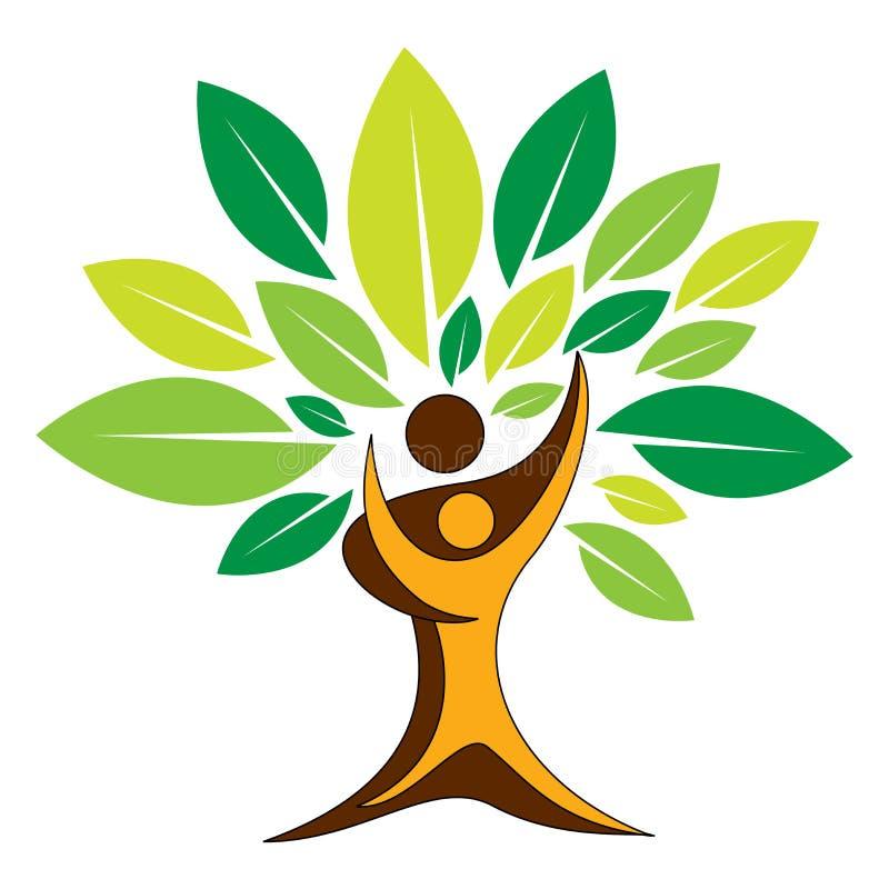 Het embleem van de paarboom vector illustratie