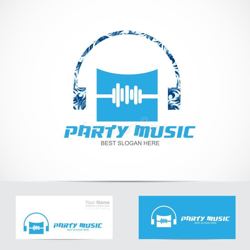 Het embleem van de partijmuziek vector illustratie