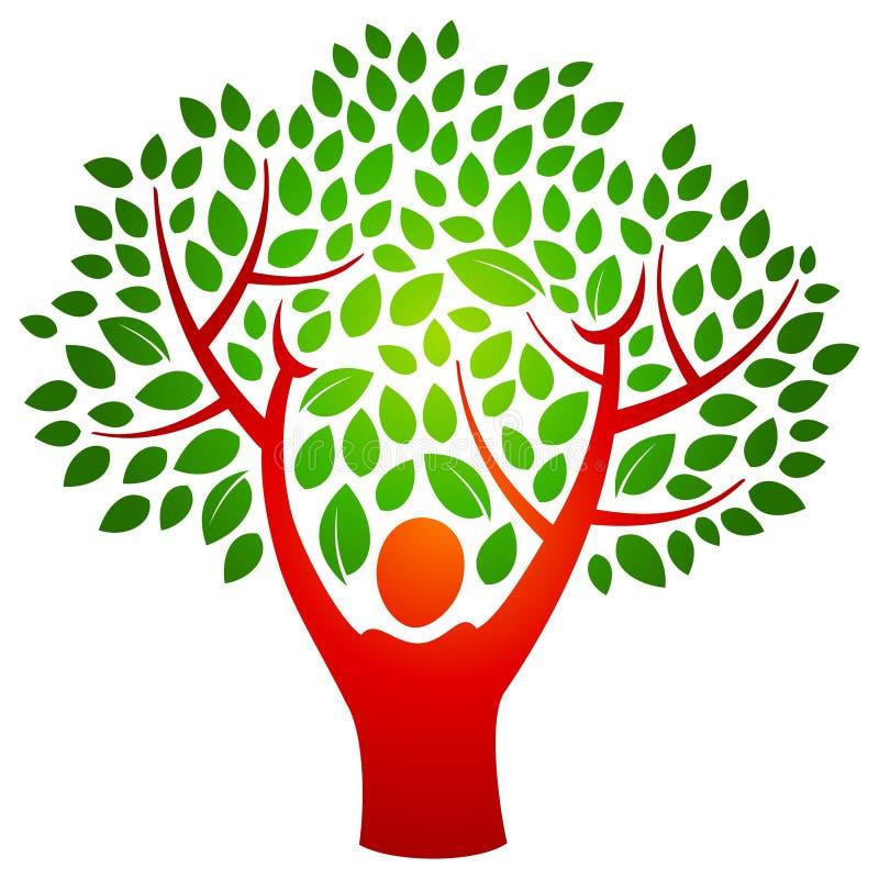 Het embleem van de persoonsboom royalty-vrije illustratie