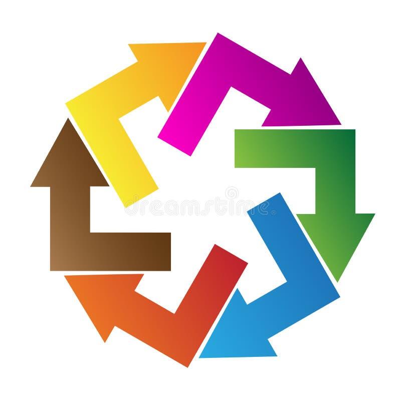 Het embleem van de pijlpunt stock illustratie