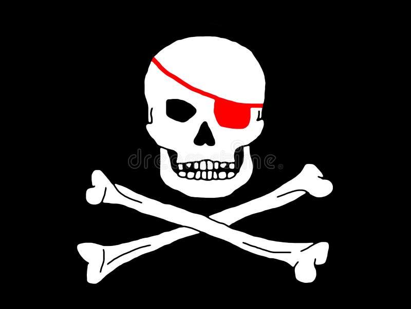 Het Embleem van de piraat royalty-vrije stock afbeeldingen
