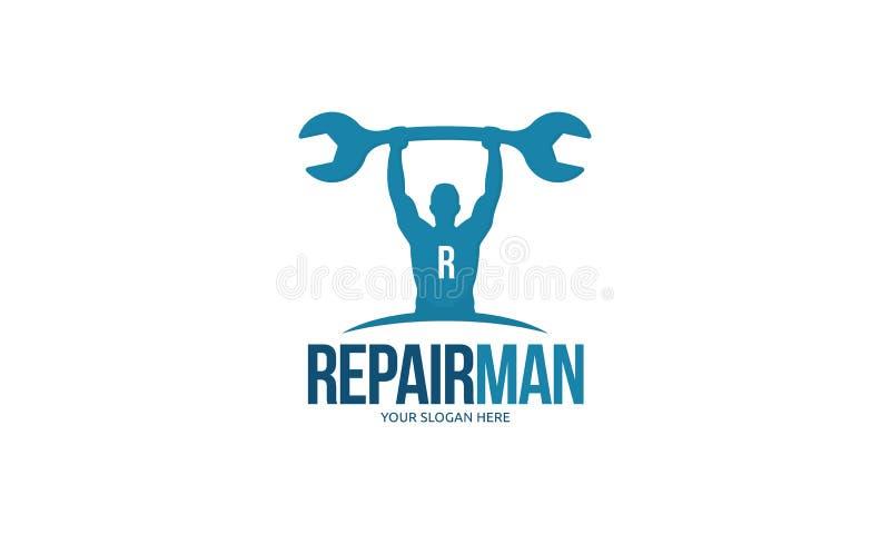 Het Embleem van de reparatiemens royalty-vrije illustratie