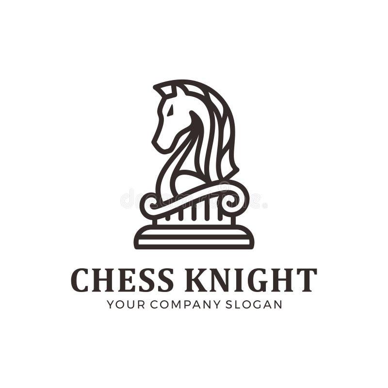 Het embleem van de schaakridder, paardembleem royalty-vrije illustratie