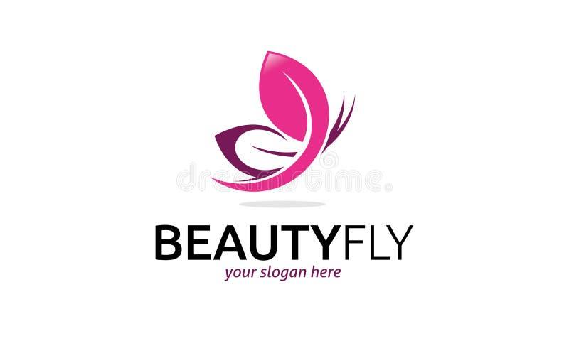 Het Embleem van de schoonheidsvlieg stock illustratie