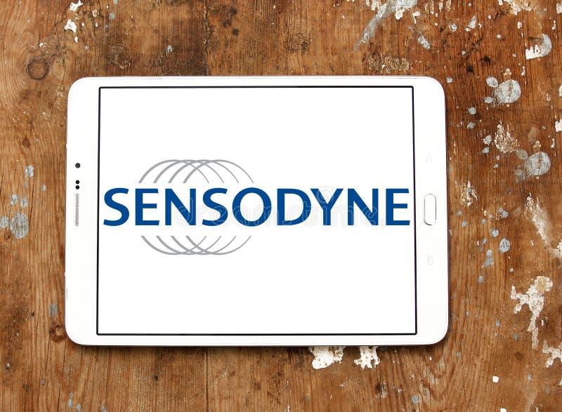 Het embleem van de Sensodynetandpasta stock foto's