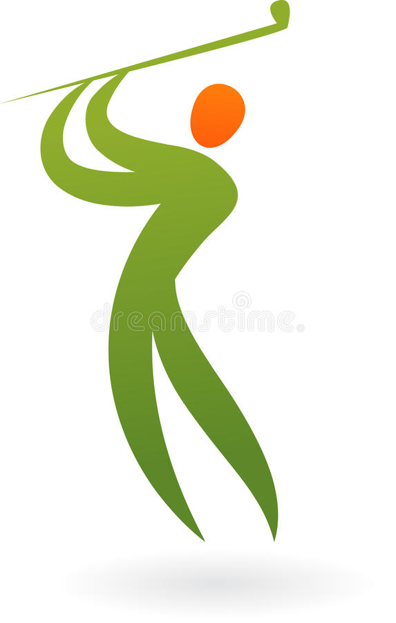 Het embleem van de sport - golf stock illustratie