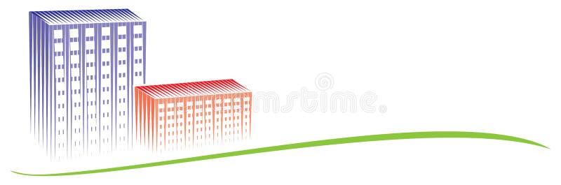 Het embleem van de stad royalty-vrije illustratie