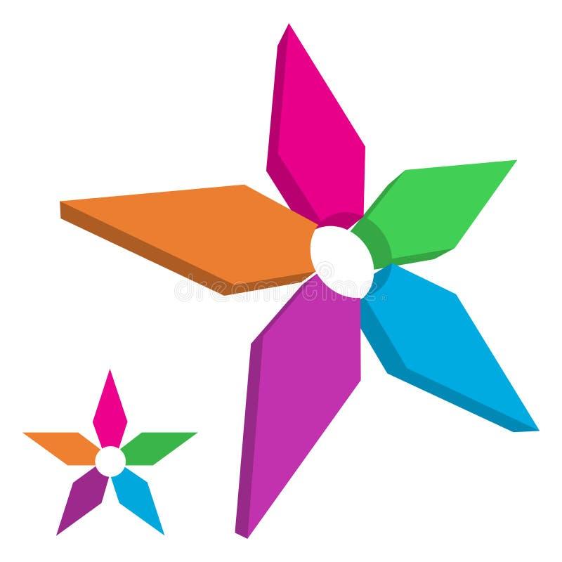 Het embleem van de ster vector illustratie