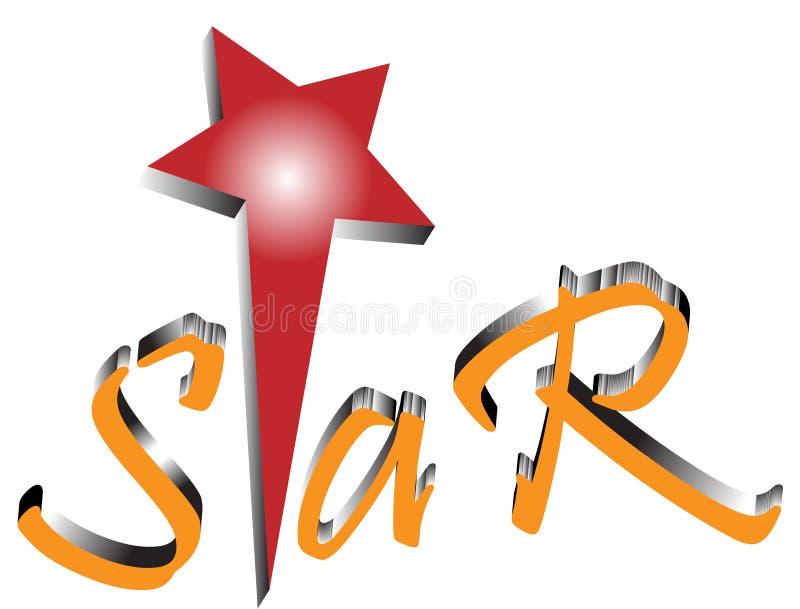 Het embleem van de ster stock illustratie