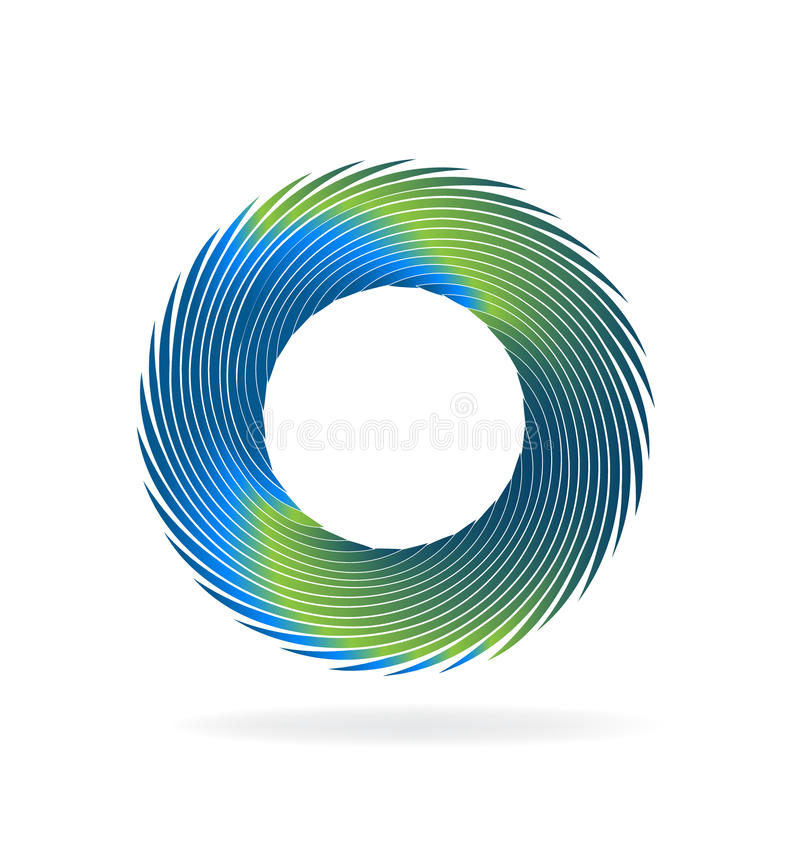 Het embleem van de Swirlygolf vector illustratie