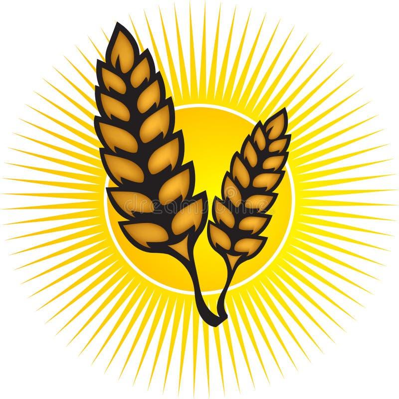 Het embleem van de tarwe royalty-vrije illustratie