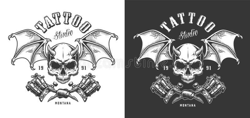 Het embleem van de tatoegeringszaal stock illustratie