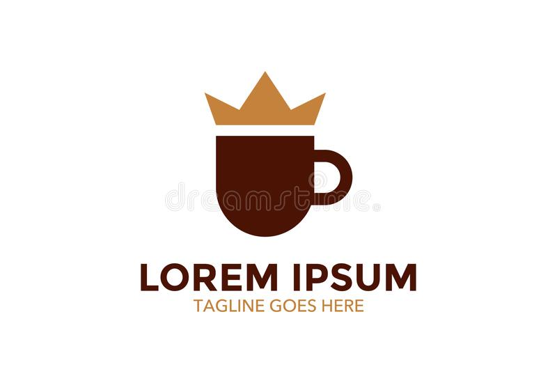 Het embleem van de unieke en tribune uit koffie Vector illustratie editable royalty-vrije illustratie