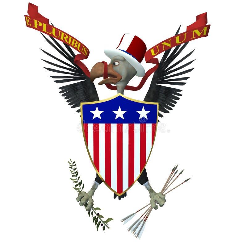Het Embleem van de V.S. - Gier 1 vector illustratie