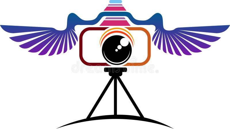 Het embleem van de vliegcamera royalty-vrije illustratie