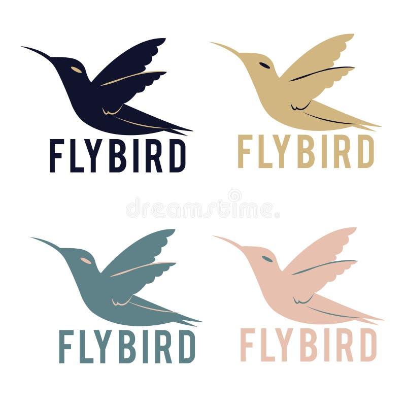 Het embleem van de vliegvogel royalty-vrije stock afbeelding