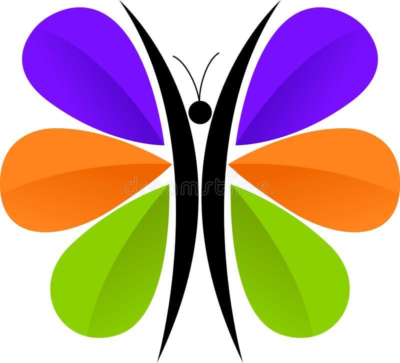 Het embleem van de vlinder stock illustratie