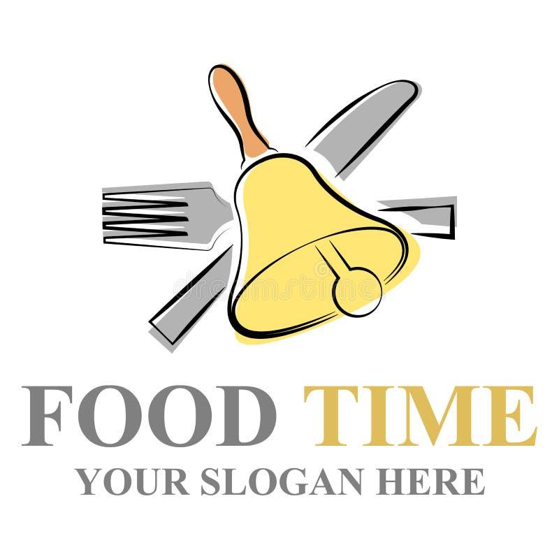 Het embleem van de voedseltijd stock illustratie