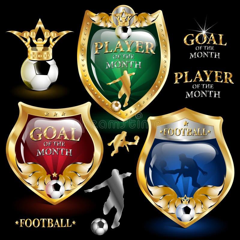 Het embleem van de voetbal stock afbeelding