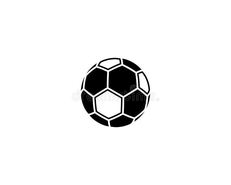 Het embleem van de voetbalvoetbal royalty-vrije illustratie