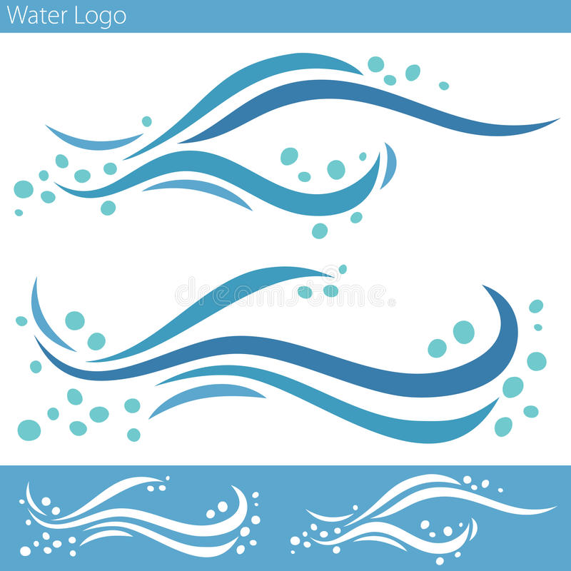 Het Embleem van de watergolf stock illustratie