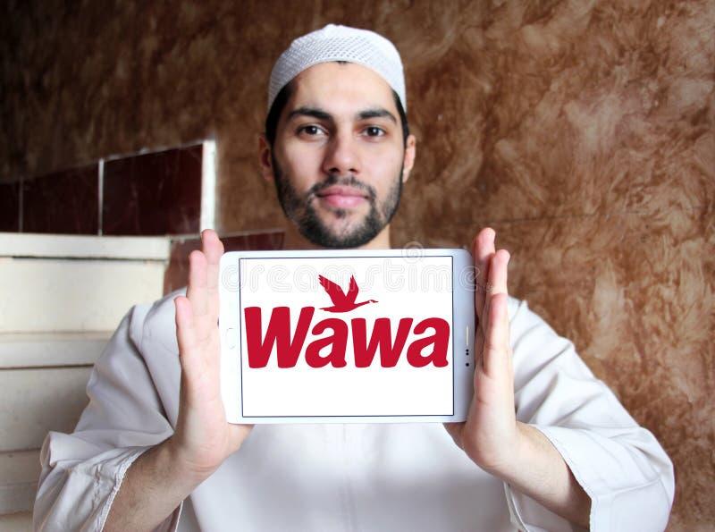 Het embleem van de Wawakoffie stock afbeelding