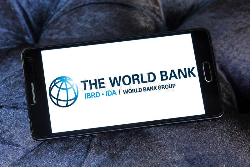 Het embleem van de de Wereldbankgroep stock foto's
