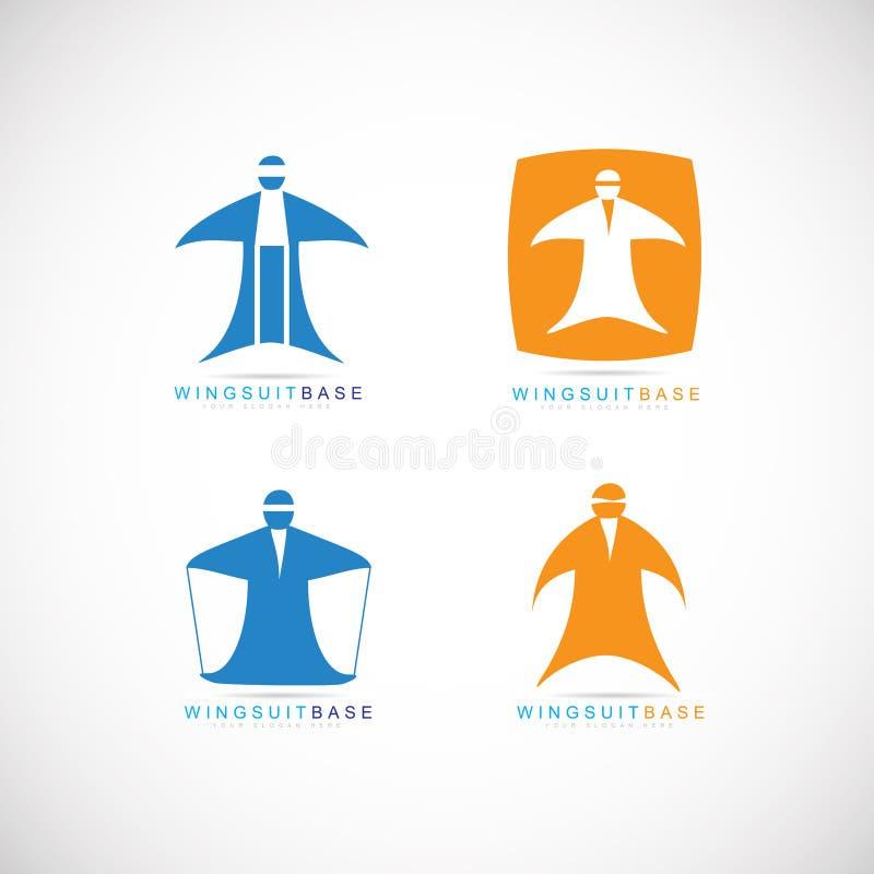 Het embleem van de Wingsuitbasis vector illustratie