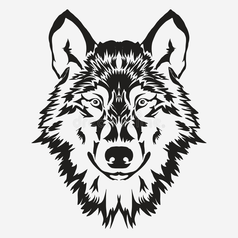 Het Embleem van de wolfsbout royalty-vrije illustratie