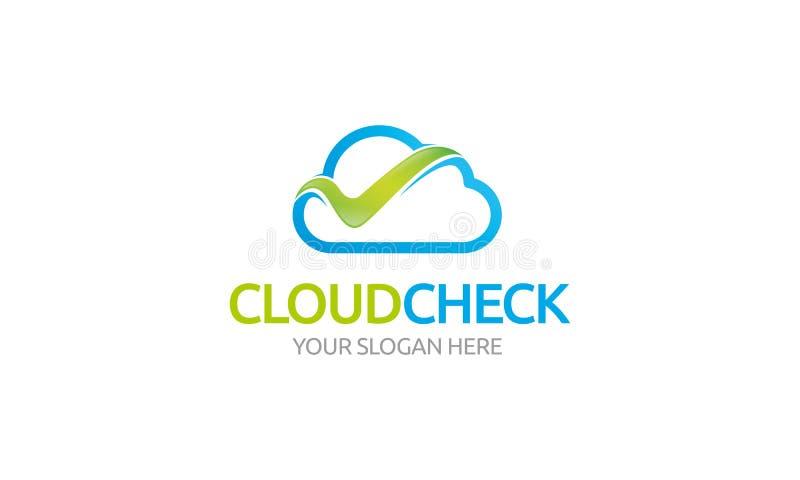 Het Embleem van de wolkencontrole stock illustratie