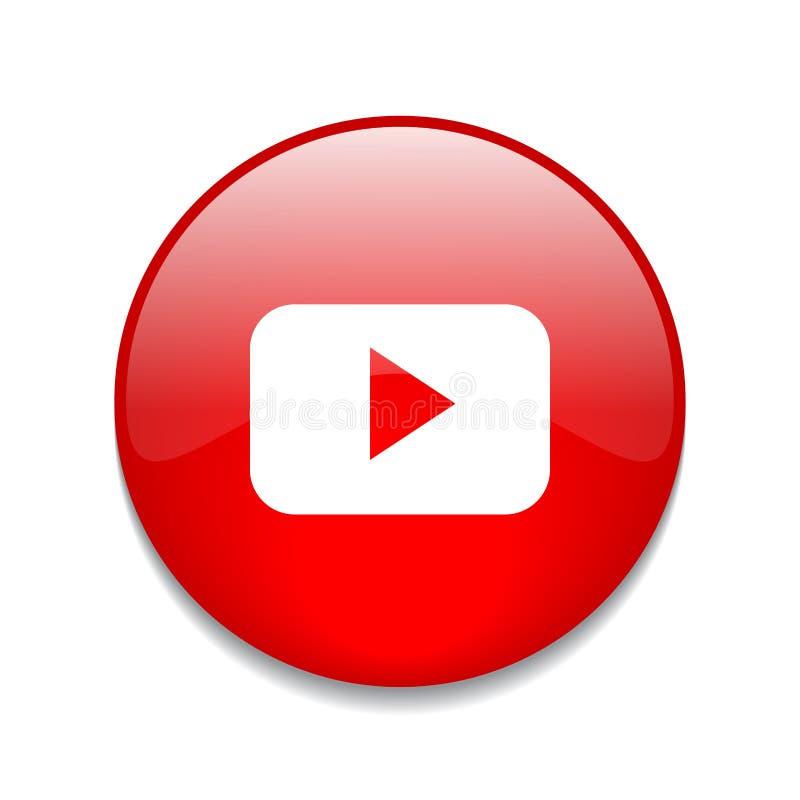 Het embleem van de Youtubeknoop royalty-vrije illustratie