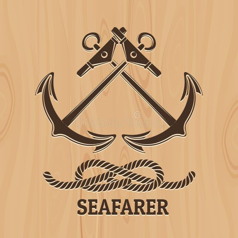 Het Embleem van de zeevaardersclub royalty-vrije illustratie