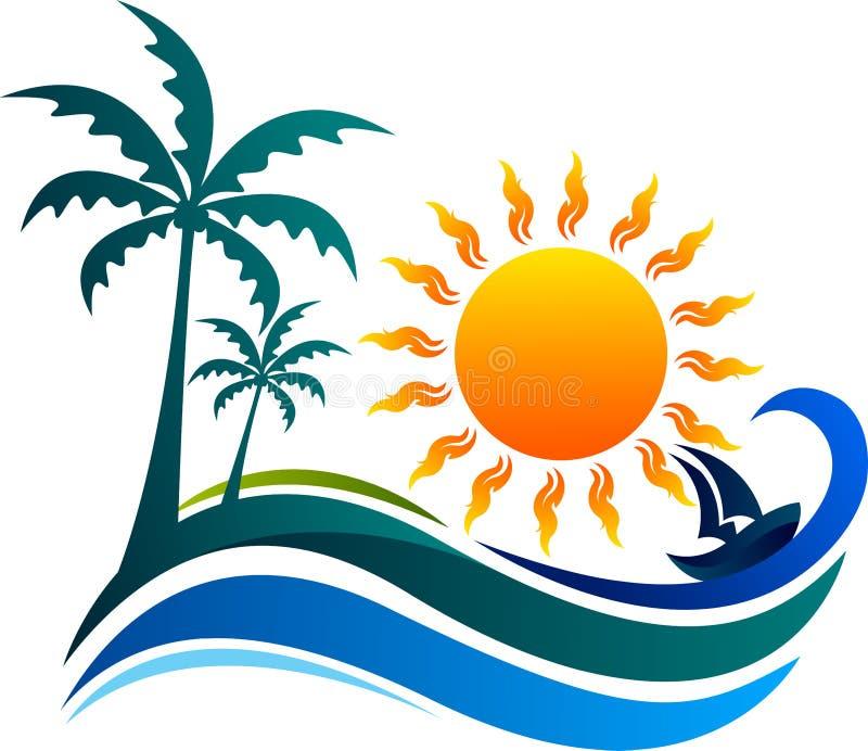 Het embleem van de zomer vector illustratie