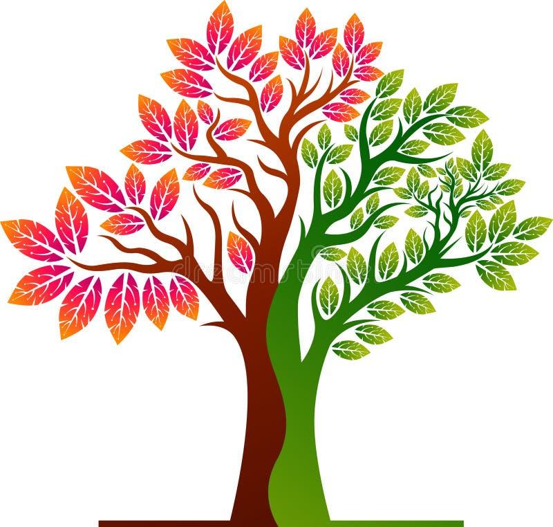 Het embleem van de de zomerboom stock illustratie