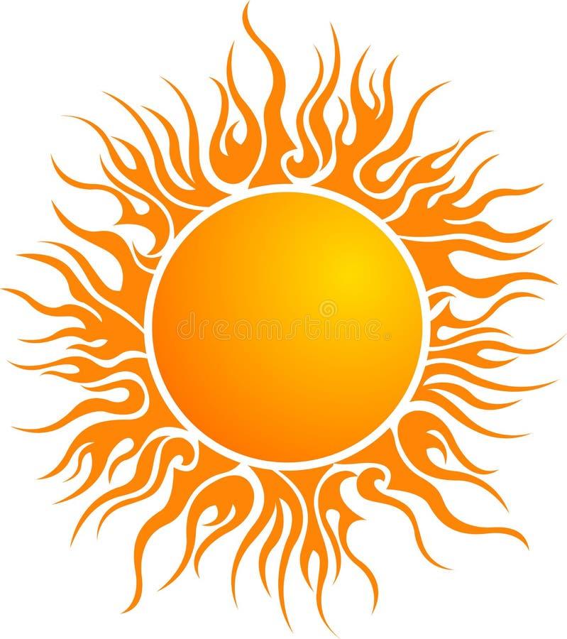 Het embleem van de zon royalty-vrije illustratie
