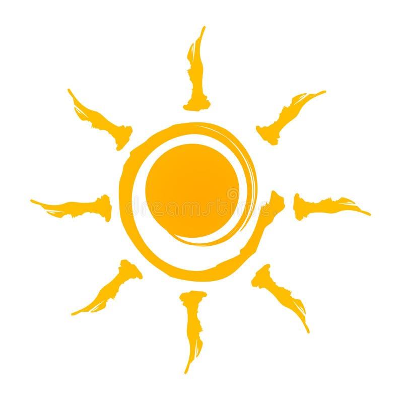 Het embleem van de zon vector illustratie