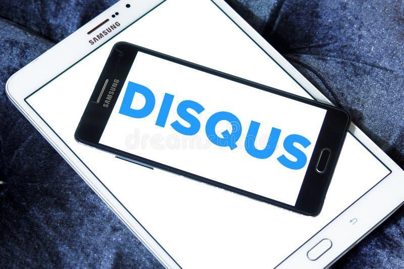 Het embleem van het Disqusbedrijf stock fotografie