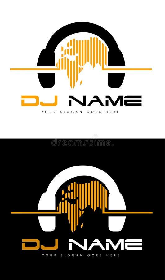 Het Embleem van DJ stock illustratie