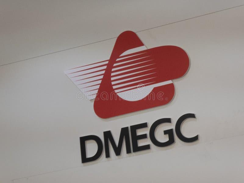 Het embleem van het Dmegcbedrijf stock fotografie