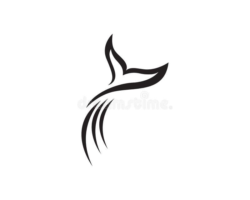 Het embleem van dolfijnvissen en symbolendieren royalty-vrije illustratie