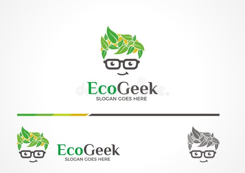 Het Embleem van Ecogeek vector illustratie