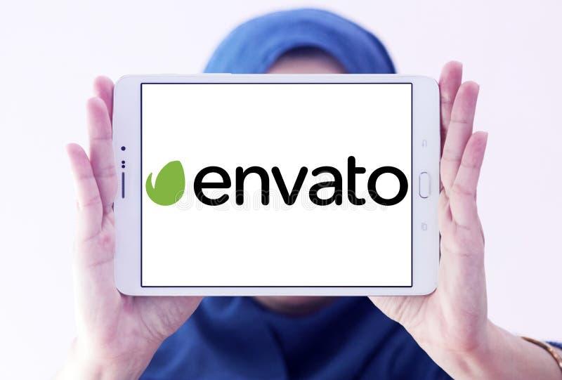 Het embleem van het Envatobedrijf royalty-vrije stock afbeelding