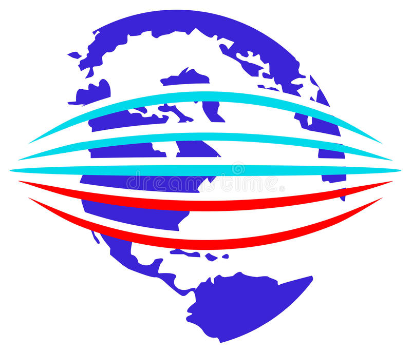 Het embleem van Glob stock illustratie